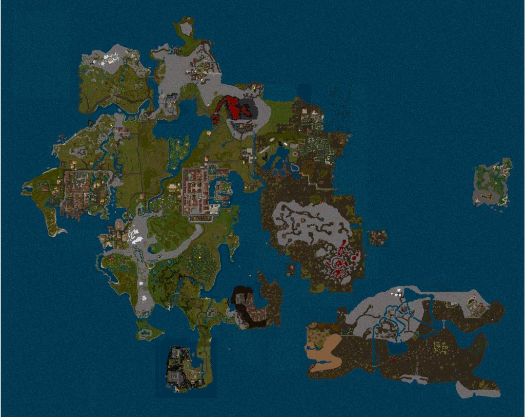 Dungeonübersicht - große Karte