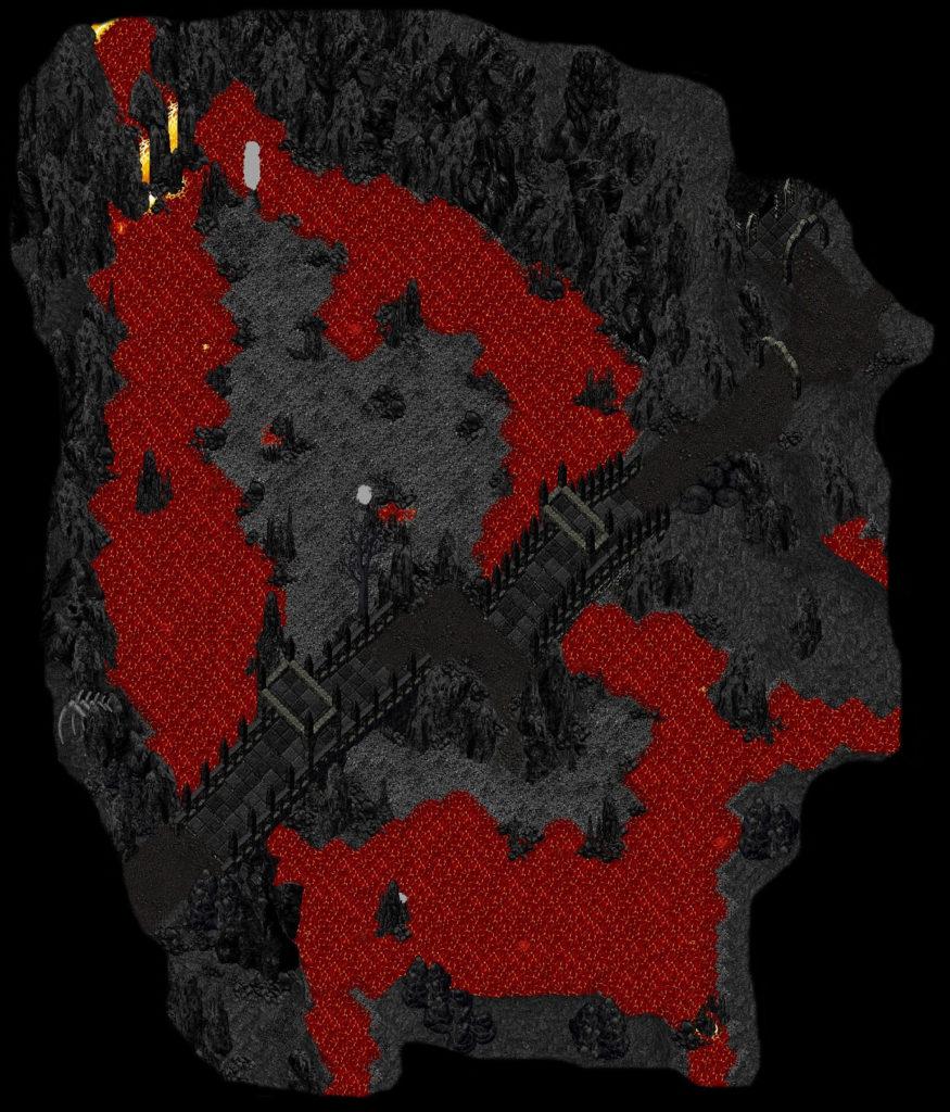 Siebenwind, Ultima Online Freeschard. Lavasee von Ras Altanin